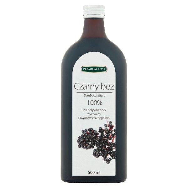 Premium Rosa 100% sok bezpośrednio wyciskany z owoców czarnego bzu 500 ml