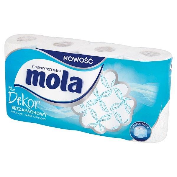 Mola Blue Dekor Papier toaletowy bezzapachowy 8 rolek