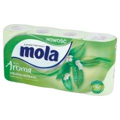 Papier toaletowy Mola classic zielony /8rolek