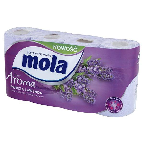 Papier toaletowy Mola fresh aroma świeża lawenda/8rolek