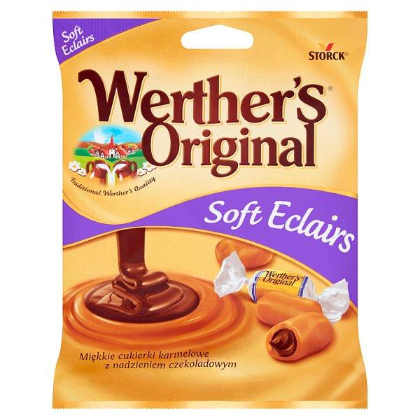 Werther's Original Soft Eclairs Miękkie cukierki karmelowe z nadzieniem czekoladowym 70 g