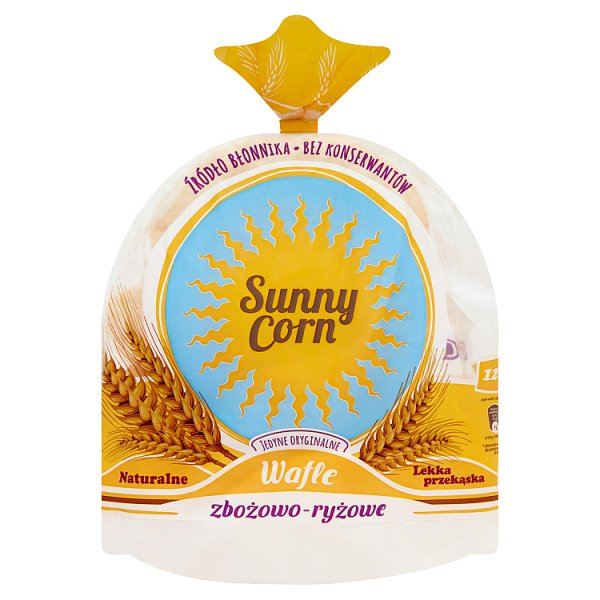 Sunny Corn Wafle zbożowo-ryżowe naturalne 60 g (12 sztuk)