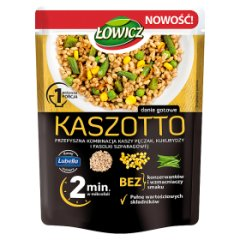 Łowicz Kaszotto kasza pęczak z kukurydzą i fasolą szparagową 250 g