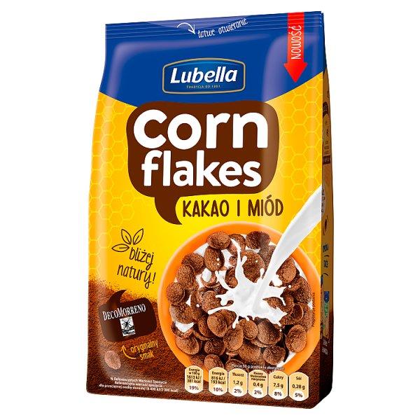 Lubella Corn Flakes Płatki kukurydziane kakao i miód 400 g