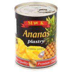 MK Ananas plastry w lekkim syropie 565 g