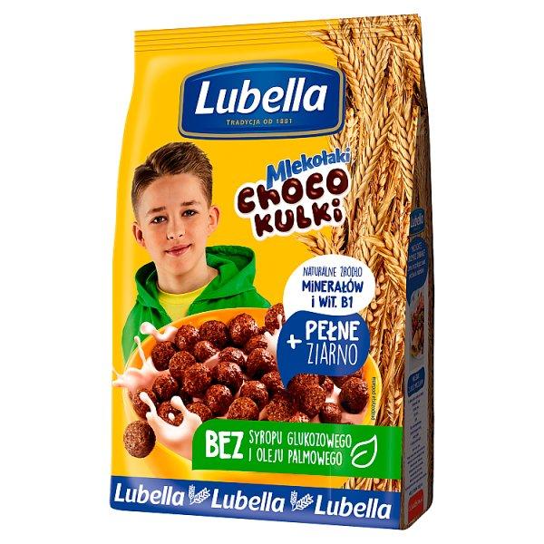 Lubella Mlekołaki Choco Kulki Zbożowe kulki o smaku czekoladowym 500 g