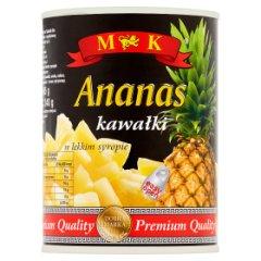 Ananas kawałki w lekkim syropie M&K