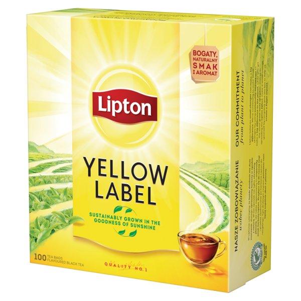 Lipton Yellow Label Herbata czarna 200 g (100 torebek)