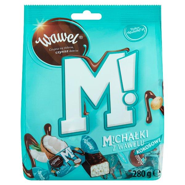 Wawel Michałki z Wawelu Kokosowe Cukierki w czekoladzie 280 g