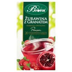 Bifix Premium żurawina z granatem Herbatka owocowa 40 g (20 saszetek)