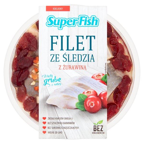 Filet ze śledzia z żurawiną