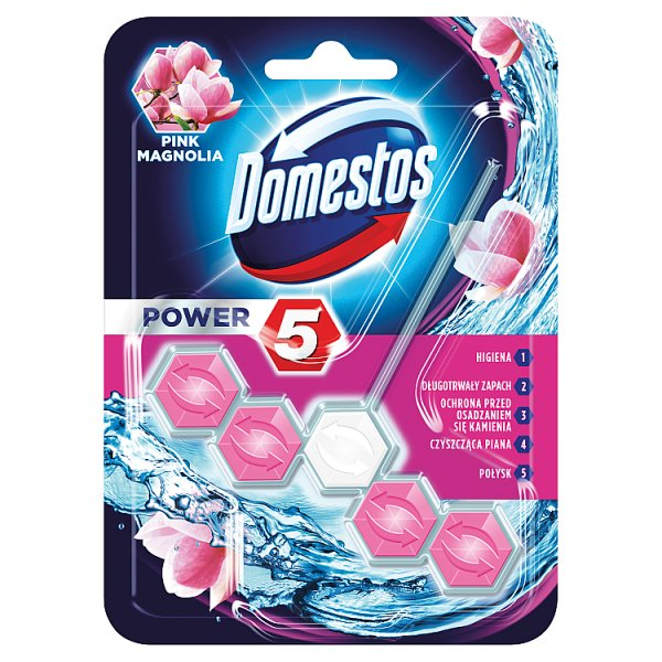 Domestos Power 5 Pink Magnolia Kostka toaletowa 55 g