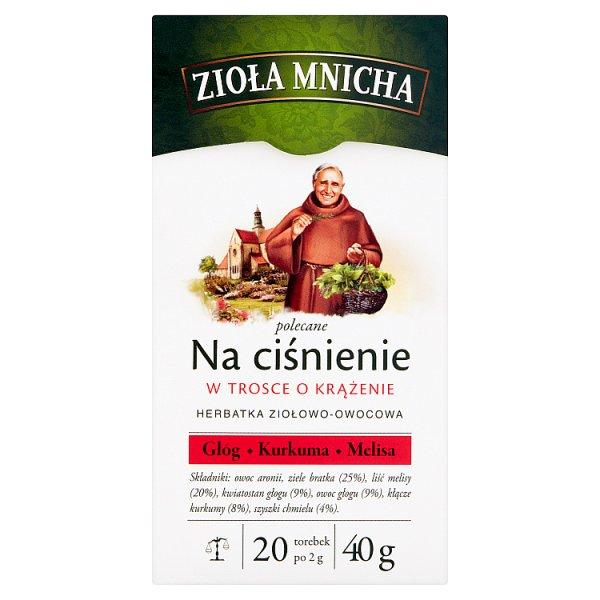 Big-Active Zioła Mnicha Na ciśnienie Herbatka ziołowo-owocowa 40 g (20 x 2 g)