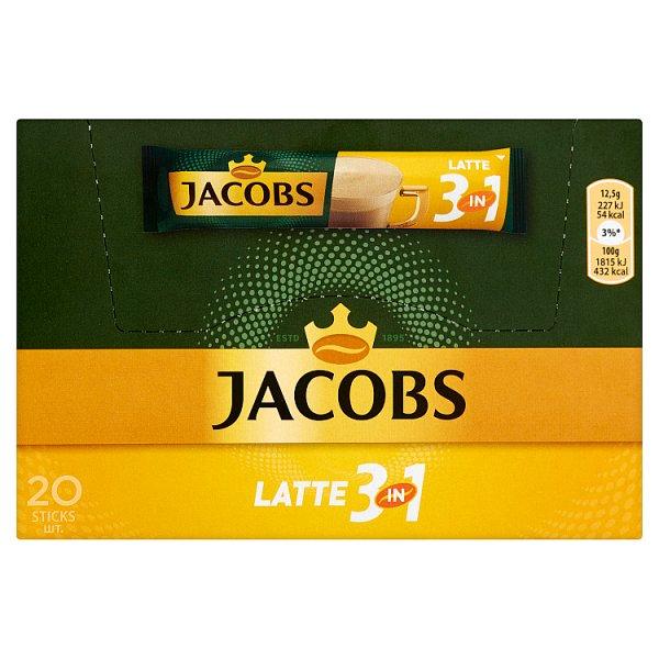 Jacobs Latte 3in1 Rozpuszczalny napój kawowy 250 g (20 x 12,5 g)
