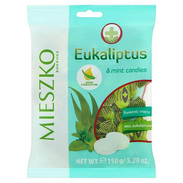 Mieszko Eukaliptus Karmelki twarde z olejkiem eukaliptusowym i miętowym 150 g