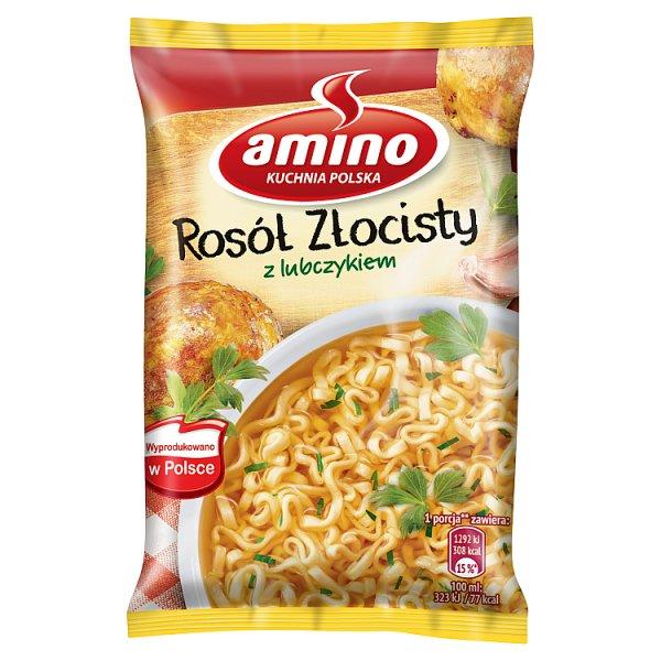 Amino Zupa błyskawiczna rosół złocisty z lubczykiem 57 g