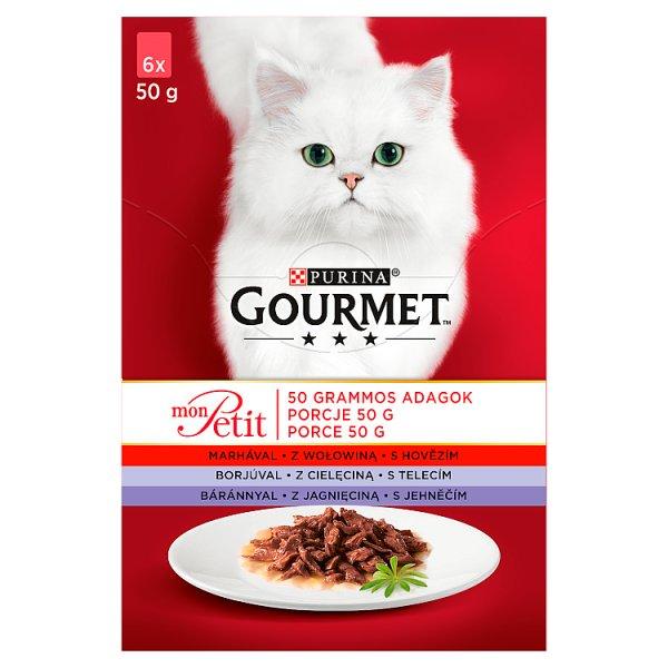 Gourmet Mon Petit Pełnoporcjowa karma dla dorosłych kotów 300 g (6 x 50 g)