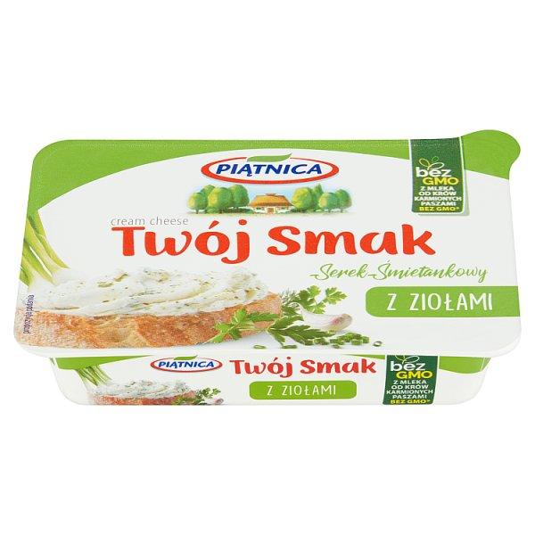 Piątnica Twój Smak Serek śmietankowy z ziołami 135 g