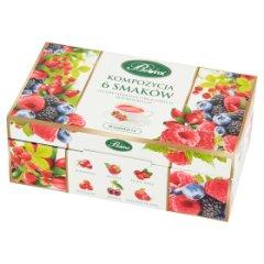 Bifix Zestaw herbatek owocowych ekspresowych kompozycja 6 smaków 120 g (60 x 2 g)
