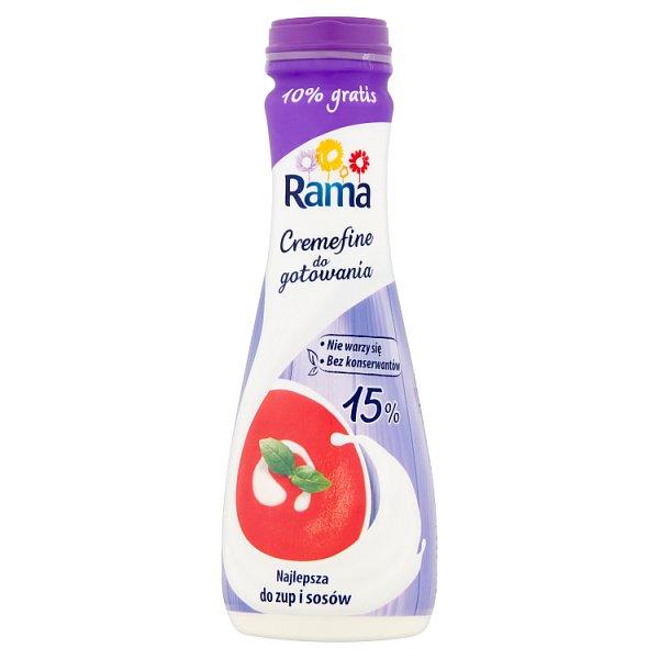 Rama Cremefine do gotowania Miks mleczny z olejami roślinnymi 15% 250 ml
