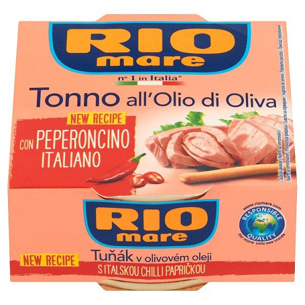 Rio Mare Tuńczyk w oliwie z oliwek z papryką chili 130 g