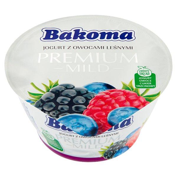 Bakoma Premium Mild Jogurt z owocami leśnymi 140 g