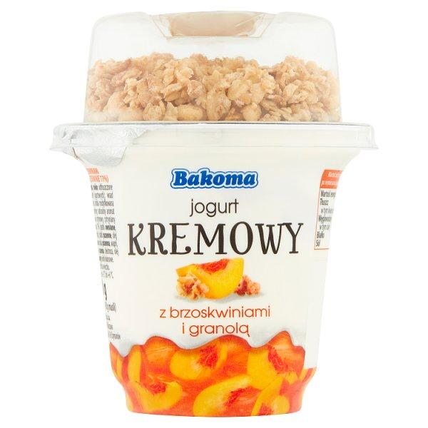 Bakoma Jogurt kremowy z brzoskwiniami i granolą 230 g