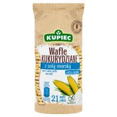 Kupiec Wafle kukurydziane z solą morską 105 g (21 sztuk)
