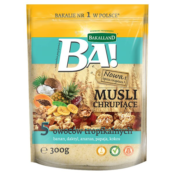 Bakalland Ba! Musli chrupiące 5 owoców tropikalnych 300 g