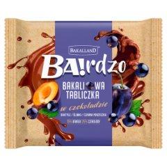 Bakalland Ba!rdzo Bakaliowa tabliczka w czekoladzie daktyle śliwki czarna porzeczka 65 g