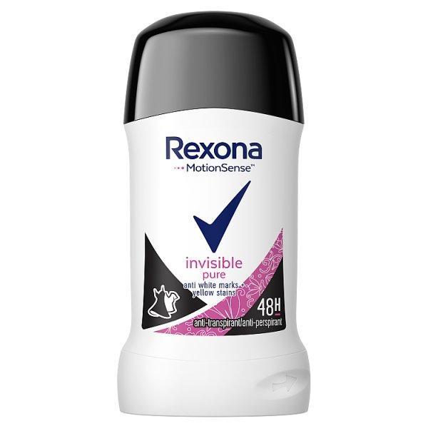 Rexona Invisible Pure Antyperspirant w sztyfcie dla kobiet 40 ml
