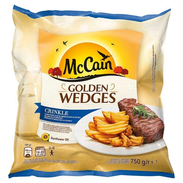 McCain Golden Wedges Crinkle Karbowane cząstki ziemniaczane ze skórką 750 g