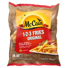 McCain 1.2.3 Fries Original Frytki proste 750 g