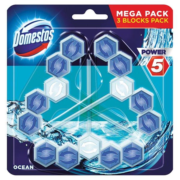 Domestos Power 5 Ocean Kostka toaletowa 3 x 55 g