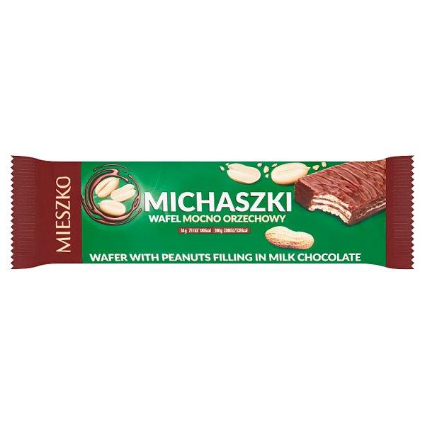 Mieszko Michaszki Wafel mocno orzechowy 34 g