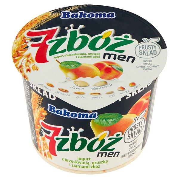 Jogurt 7 zbóż men brzoskwinia-gruszka-ziarna