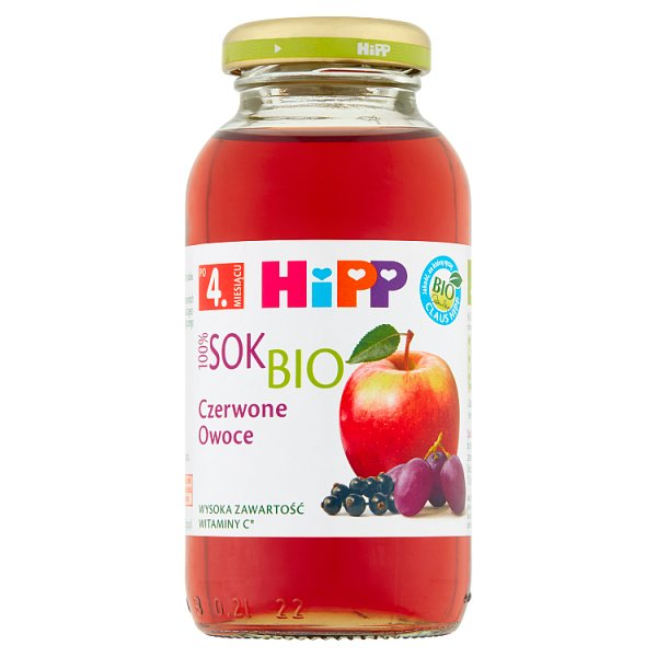 Sok Hipp z jabłek i czerwonych owoców