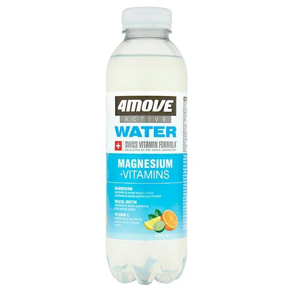 4Move Active Water Magnez + Witaminy Napój niegazowany o smaku cytrusowym 556 ml