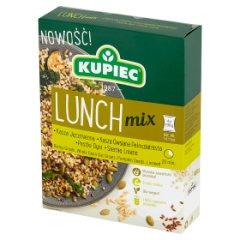 Kupiec Lunch Mix Kasza jęczmienna kasza owsiana pestki dyni siemię lniane 400 g (4 x 100 g)