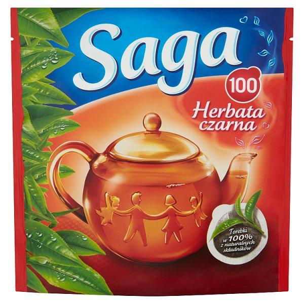 Saga Herbata czarna 140 g (100 torebek)