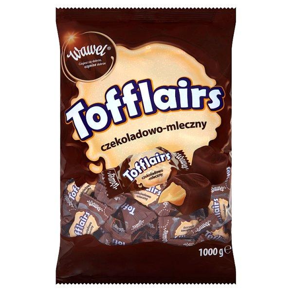 Wawel Tofflairs czekoladowo-mleczny Pomadki niekrystaliczne czekoladowe 1000 g