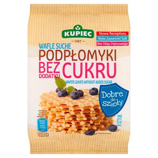 Kupiec Wafle suche podpłomyki bez dodatku cukru 72 g (8 sztuk)