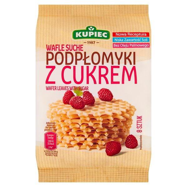 Kupiec Wafle suche podpłomyki z cukrem 72 g (8 sztuk)