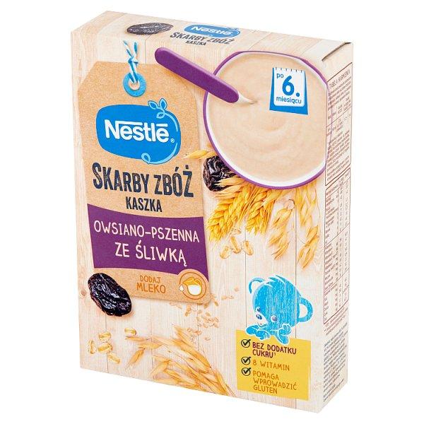 Nestlé Skarby Zbóż Kaszka owsiano-pszenna ze śliwką po 6. miesiącu 250 g