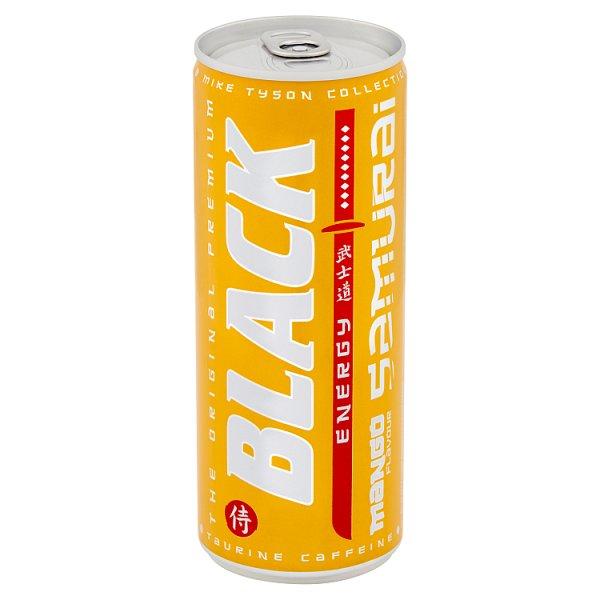 Black Energy Samurai Gazowany napój energetyzujący o smaku mango 250 ml