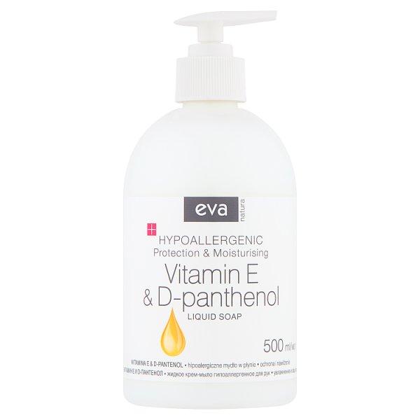 Eva Natura Hipoalergiczne mydło w płynie witamina E & D-pantenol 500 ml