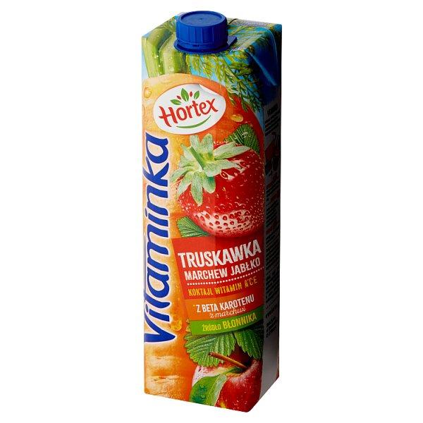 Sok Hortex vitaminka 100% marchew, jabłko, truskawka