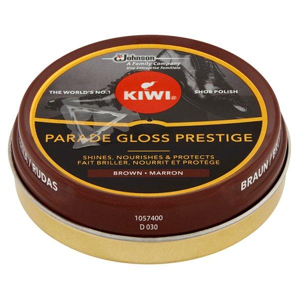 Kiwi Parade Gloss Prestige Pasta do butów brązowa 50 ml