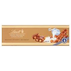 Lindt Szwajcarska czekolada mleczna z całymi orzechami laskowymi 300 g