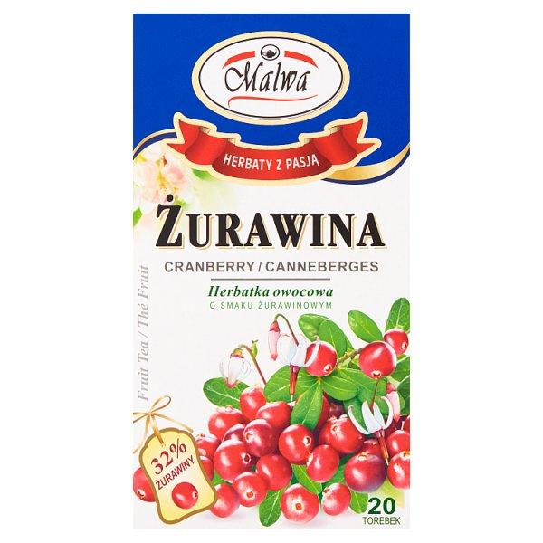 Malwa Herbatka owocowa żurawina 40 g (20 x 2 g)